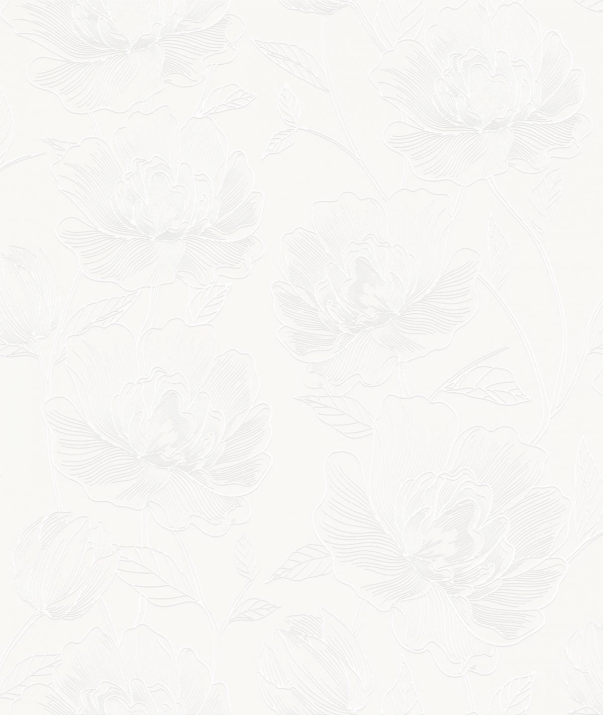 Papel de Parede Vinilizado Atemporal Floral