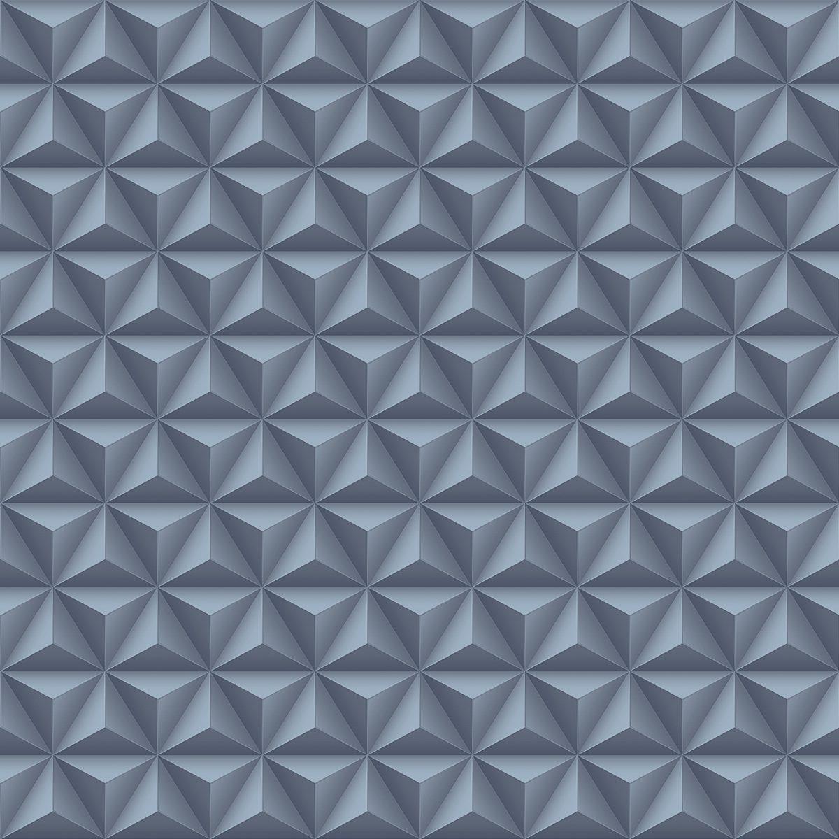 Papel de parede geométrico 3D vinílico Diplomata