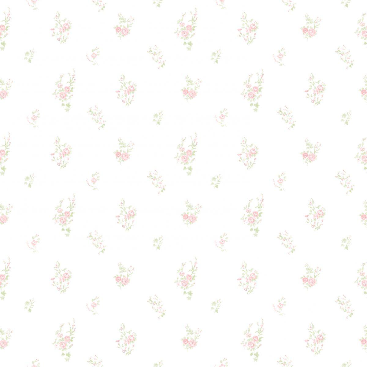 Papel de parede floral vinilizado Bambinos