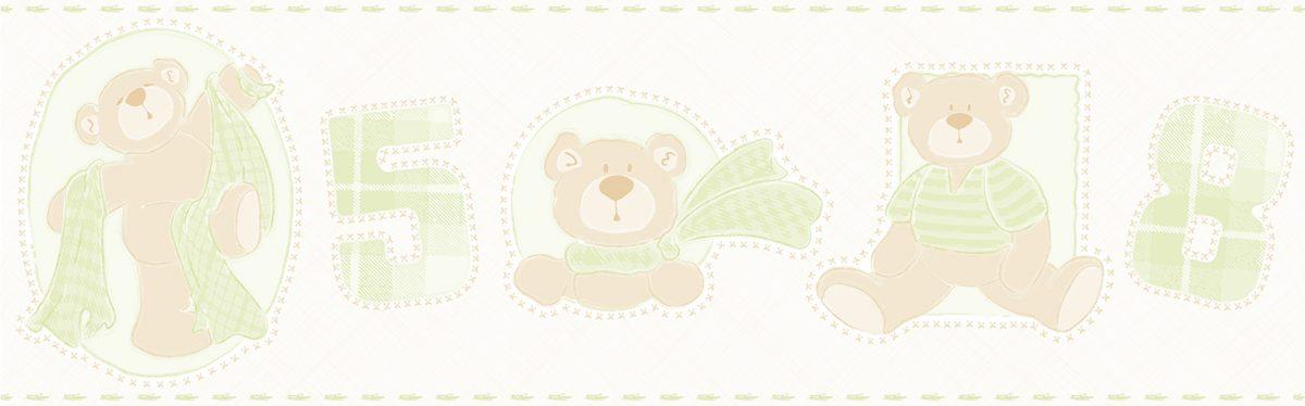 Faixa de parede ursos vinilizada Bambinos