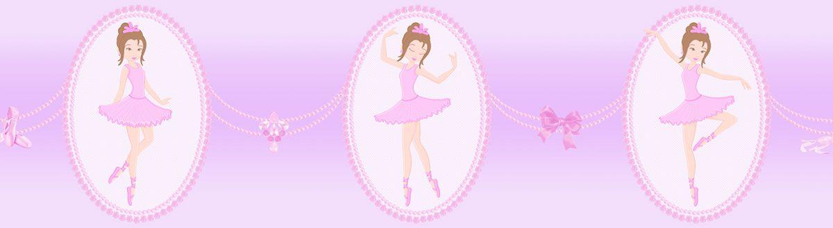 Faixa de parede bailarina vinilizada Bambinos