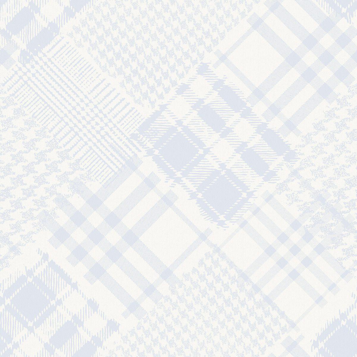 Papel de parede Infantário Henrique xadrez patchwork vinílico