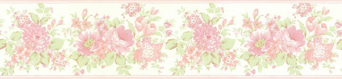 Faixa de papel floral vinilizada Figuras