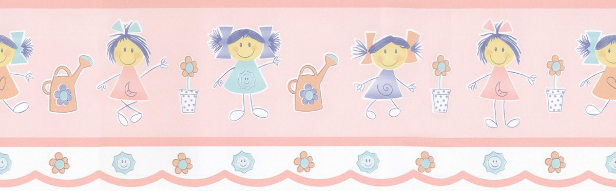 Faixa de papel menina palito vinilizada Figuras