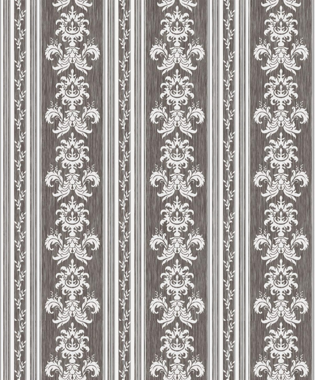 Papel de parede listra e arabesco vinílico Relevos