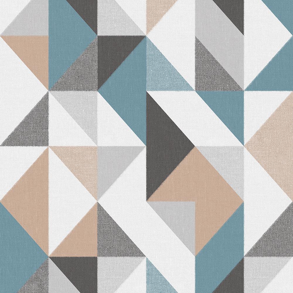 Papel de Parede Vinílico Contemporâneo Contemporâneo Geométrico Azul