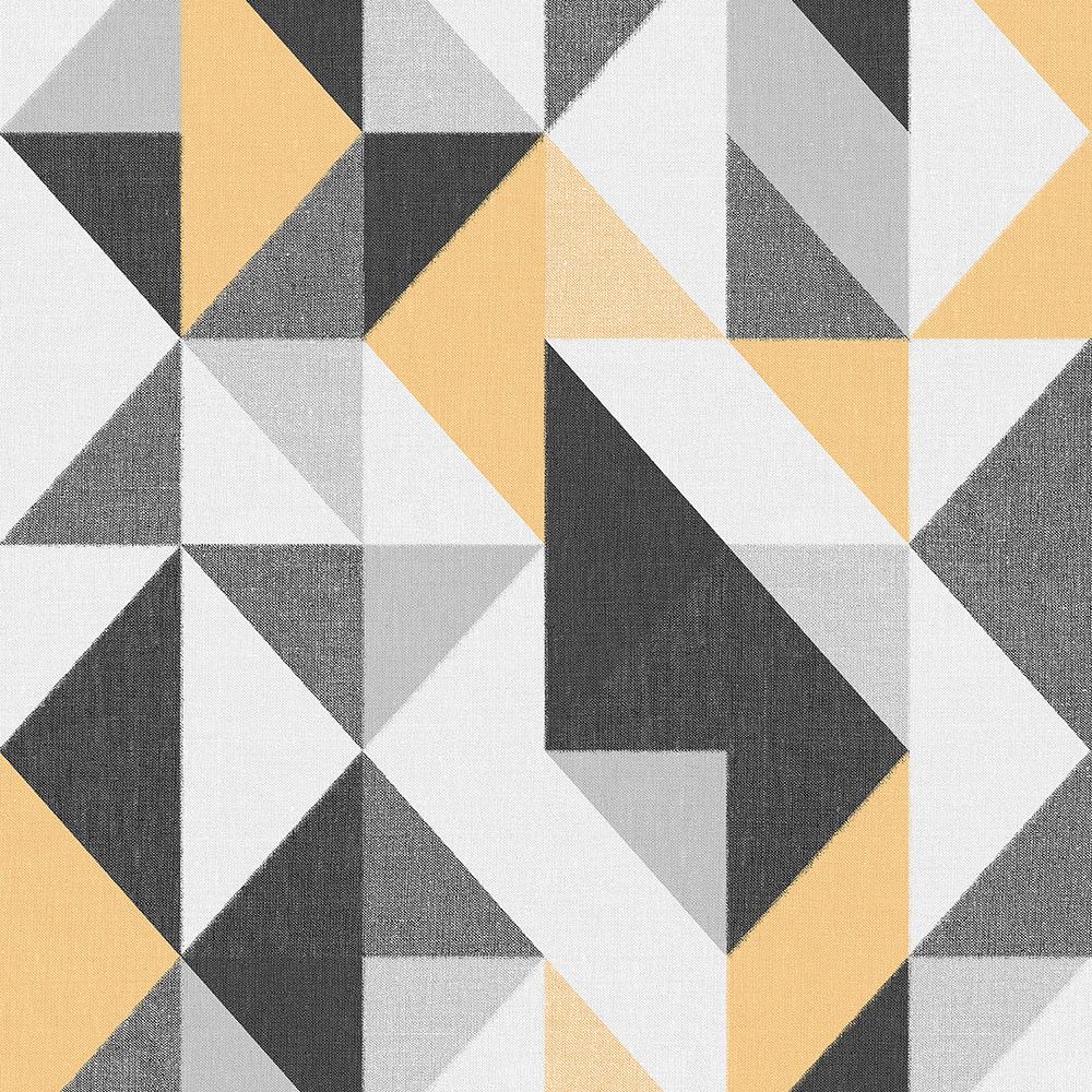 Papel de Parede Vinílico Contemporâneo Contemporâneo Geométrico Amarelo