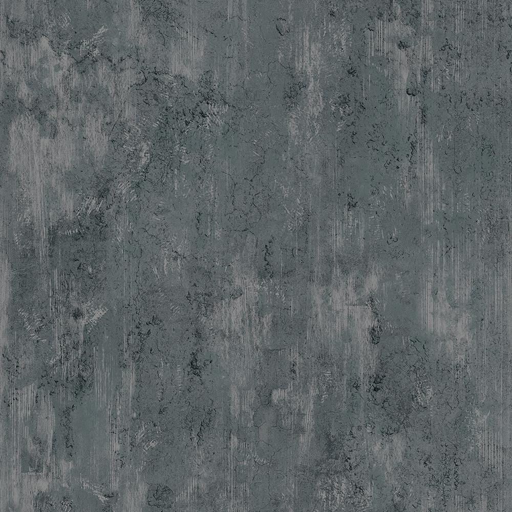 Papel de Parede Vinílico Contemporâneo Industrial Texturas Preto